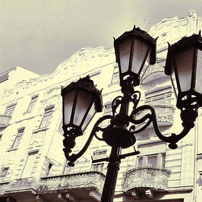 Street Lamps Of Budapest Hungary Poster by Marianna Mills