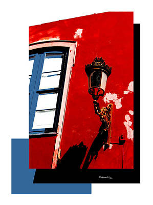 Street Light Collage Poster