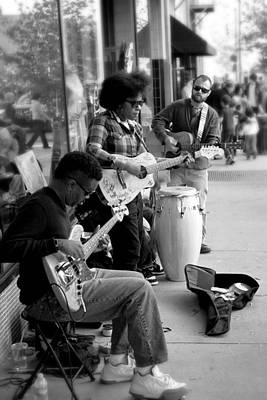 Street Musicians  Poster by Gray  Artus