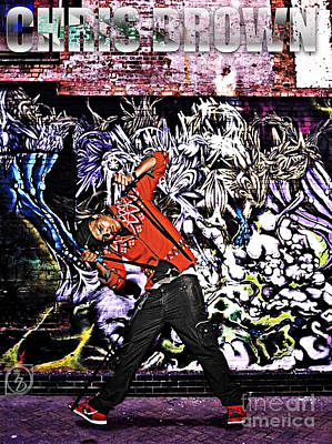 Street Phenomenon Chris Brown Poster by The DigArtisT