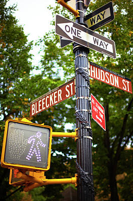Street Signs In Nyc Poster by Thomas Northcut