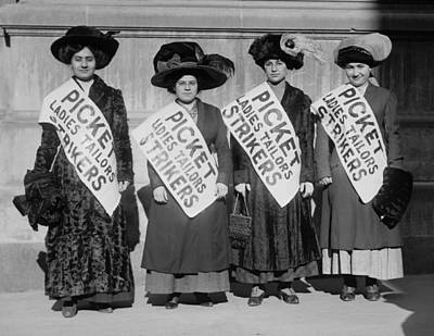 Strike Pickets From Ladies Tailors Poster by Everett