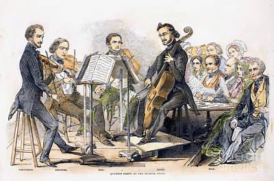 String Quartet, 1846 Poster by Granger