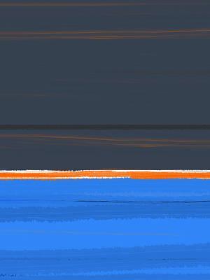 Stripe Orange Poster by Naxart Studio