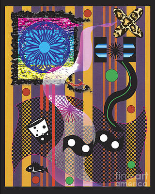 Poster featuring the digital art Stripes Design by Christine Perry