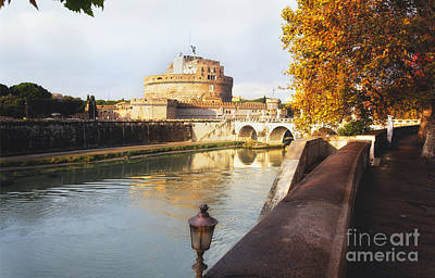 Stroll Along The Tiber Poster by George Oze