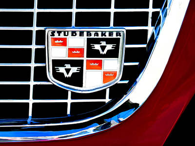 Studebaker Badge Poster by Douglas Pittman