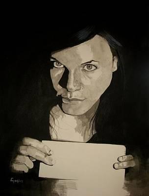 Study For Simone Spiteri Poster by Ray Agius