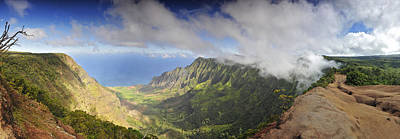 Poster featuring the photograph Stunning Panorama Of The Napali Coast In Kauaii by Sebastien Coursol