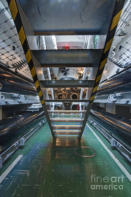Submarine Torpedo Room Poster by Rob Tilley