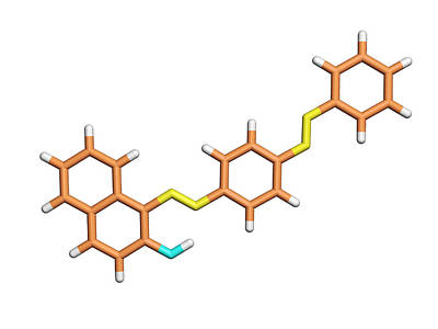 Sudan 3 Molecule Poster by Dr Tim Evans