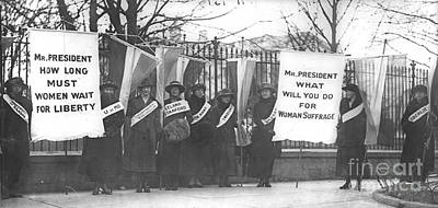 Suffragettes Picket The White House Poster by Padre Art