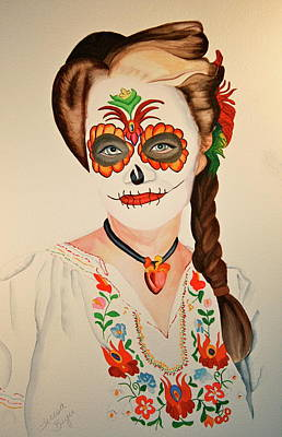 Sugar Skull Poster by Teresa Beyer