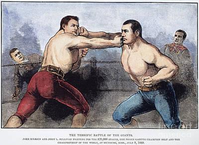 Sullivan & Kilrain Fight Poster by Granger