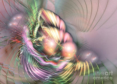 Summer Breeze - Fractal Art Poster by Sipo Liimatainen