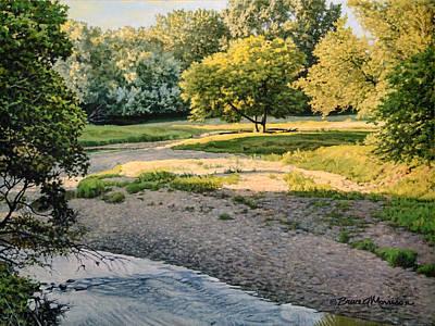 Summer Evening Along The Creek Poster