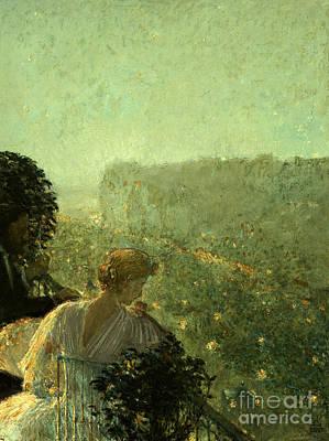 Summer Evening In Paris Poster