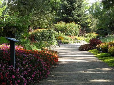 Poster featuring the photograph Summer Garden Path by Kimberly Mackowski
