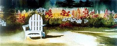 Poster featuring the painting Summer Garden  by Susan Elise Shiebler