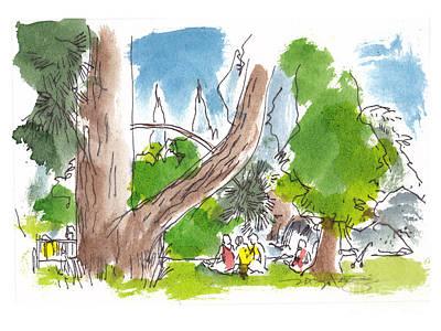 Summer In The Garden Poster