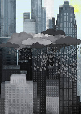 Sun Coming Out During A Thunderstorm Poster