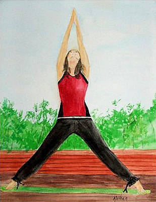 Poster featuring the painting Sun Salutation by Alethea McKee
