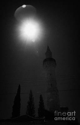 Sun Shining Down On The Small 11th Century Touzla Mosque In Larnaca Republic Of Cyprus Poster