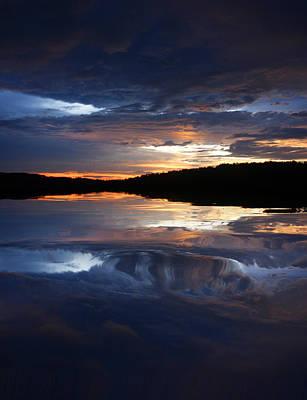 Sundown At Lake Poster