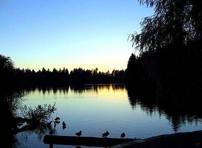 Sundown At Lost Lagoon Poster