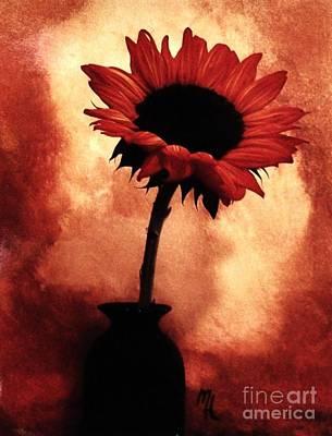 Sunflower All Aglow Poster by Marsha Heiken
