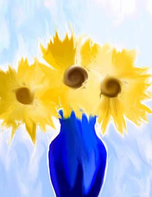 Sunflower Fantasy Still Life Poster