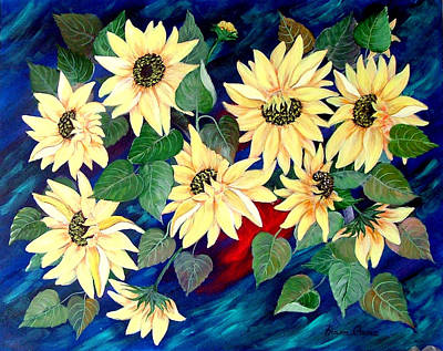 Sunflower Orgy Poster by Fram Cama