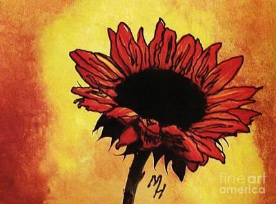 Sunflower Passion Poster by Marsha Heiken