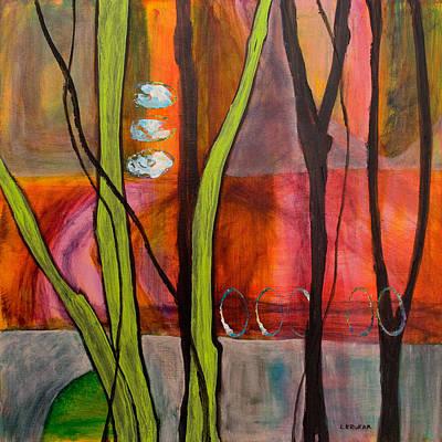 Sunny Day On Bridge Under Trees Poster by Linda Krukar