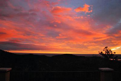 Sunrise Above Boulder-photo Poster