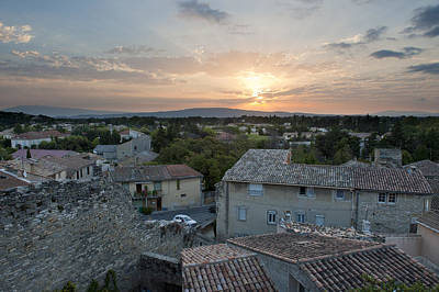 Sunrise And Rooftops At Caumont Sur Poster