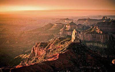Sunrise At Point Imperial, Grand Canyon North Rim Poster by California CPA