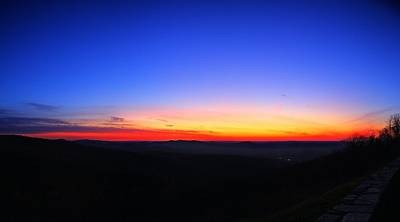 Sunrise At Skyline Drive Poster by Metro DC Photography