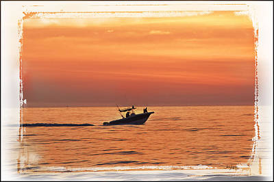 Poster featuring the photograph Sunrise Boat Ride by Janie Johnson