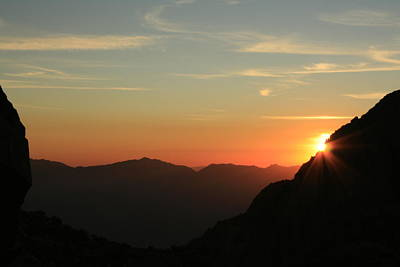 Sunrise On Mt.whitney Poster by Suzanne Lorenz