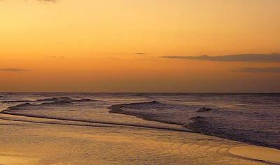 Sunrise On Sanibel Island Poster by Anne Gordon