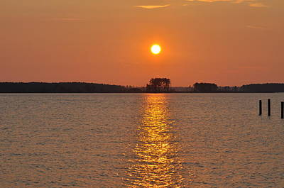 Sunrise On St. George's Island Poster by Bill Cannon