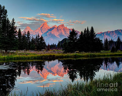 Sunrise On The Tetons Poster