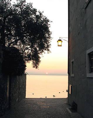 Sunrise Over Lake Garda Poster by Vikki Bouffard