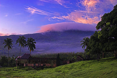 Poster featuring the photograph Sunrise Over Plantation Ruins- St Lucia by Chester Williams