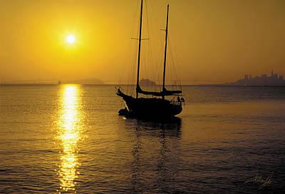 Sunrise Sailing Poster by Richard Leon