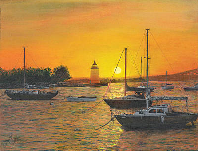 Poster featuring the painting Sunrise Sunset by Stuart B Yaeger