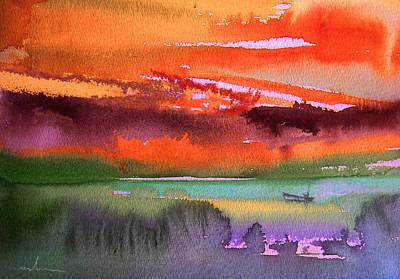 Sunset 04 Poster by Miki De Goodaboom