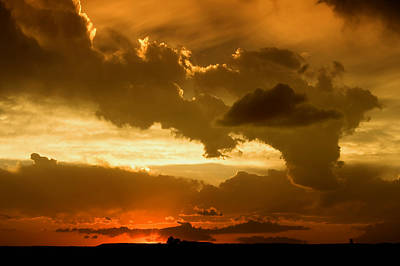 Sunset After The Storm Poster by Ellen Heaverlo