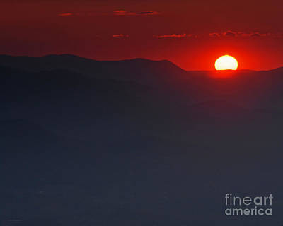 Sunset At Brasstown Bald Poster